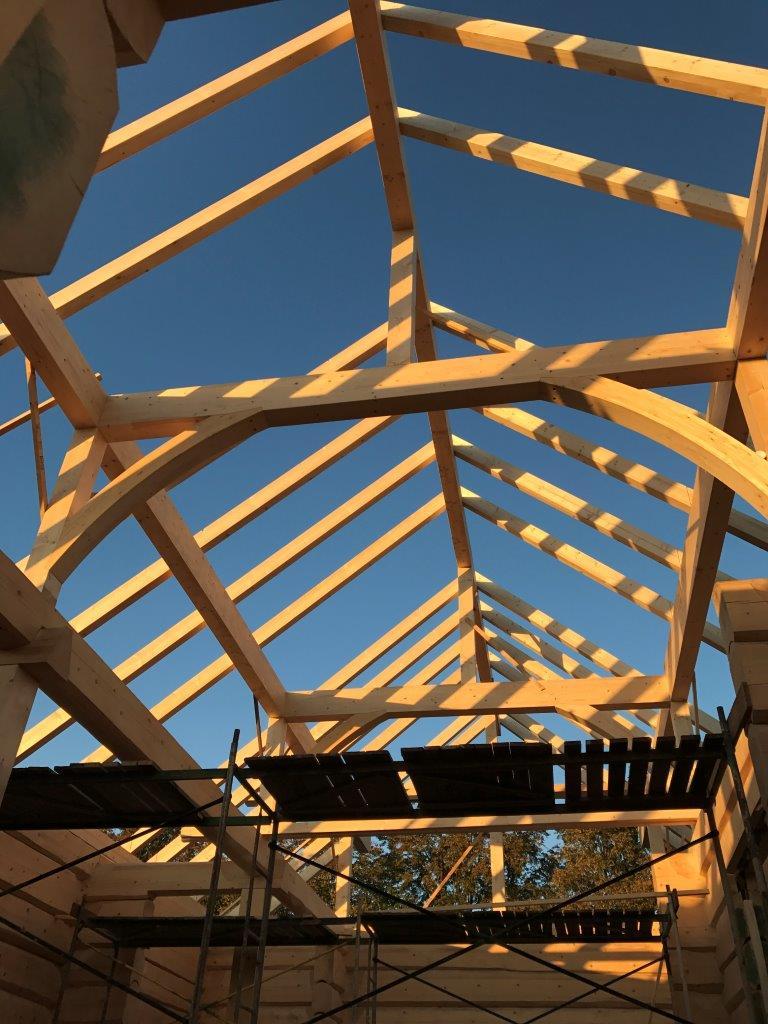 Aufbau eines Dachstuhls 2 - Zimmerei Lenk