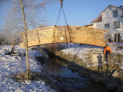 Holzbrücke - Zimmerei Lenk