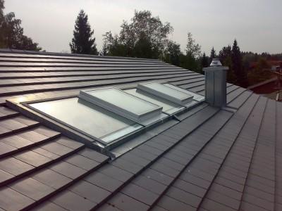 Neu gedecktes Dach - Zimmerei Lenk