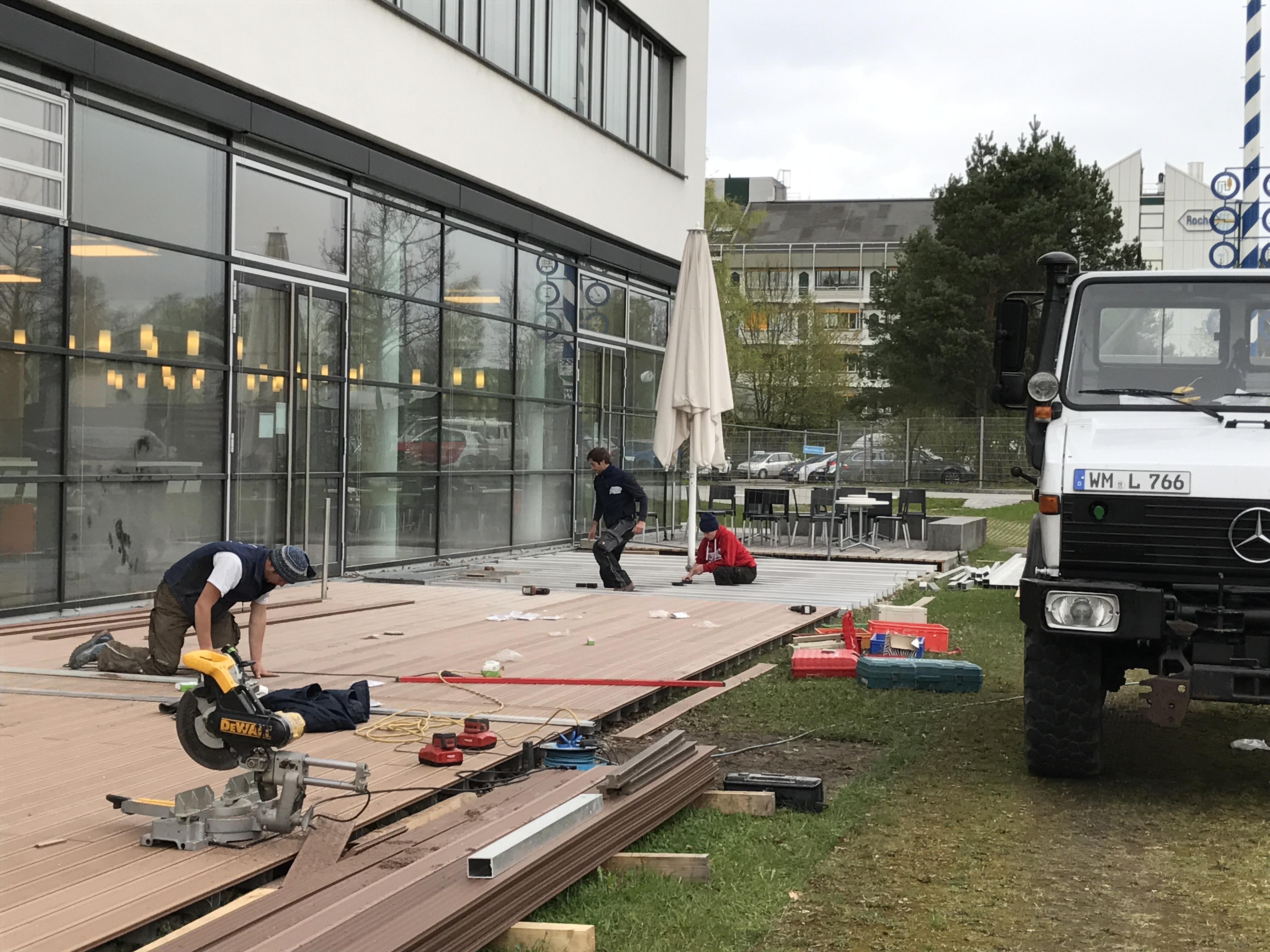 Terrasse Roche im Bau - Zimmerei Lenk