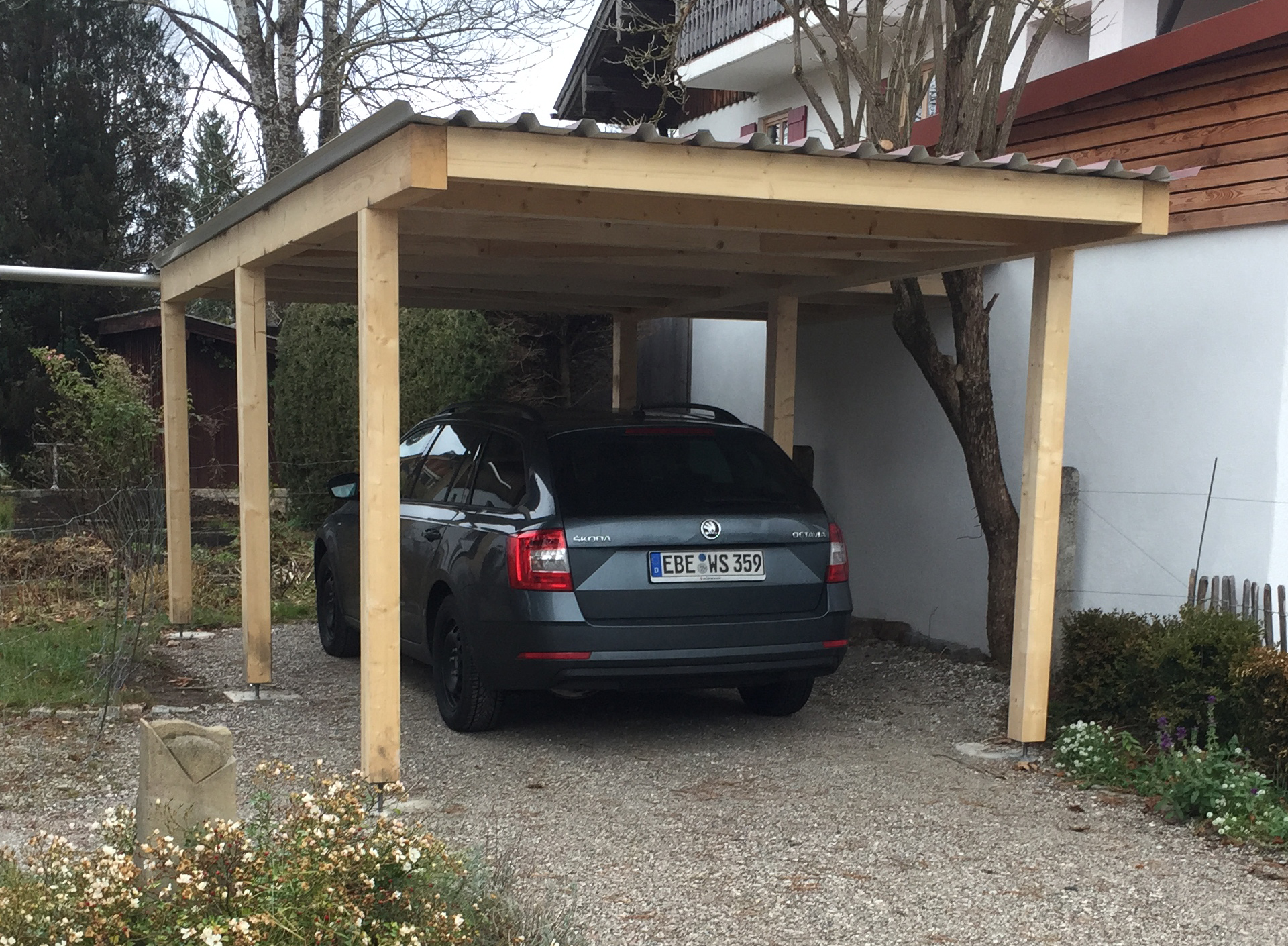 Carport aus Holz 2 - Zimmerei Lenk