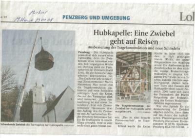 Hubkapelle: Eine Zwiebel geht auf Reisen