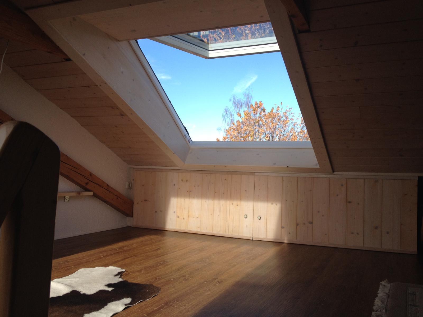Dachfenster mit Elektroantrieb und Außenrollo