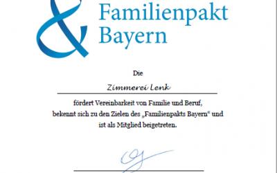 Mitglied im Familienpakt Bayern